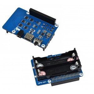 UPS HAT for Raspberry Pi  - 18650 Cell Based - 5V 2.5A Stable Supply - Charger Included