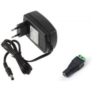 12V 2Amp - AC to DC SMPS Wall Adapter with Screw Terminal Connector