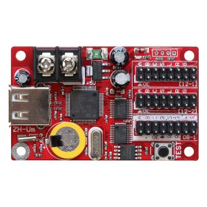 LED Display Controller Card - Single/ Double Color - 2x HUB12 - HUB08 - 16*1024 Points - U-Disk  - P10 LED controller