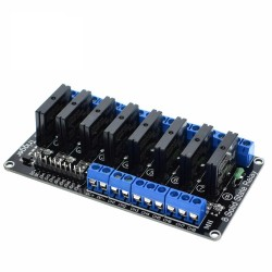 8 Channel Solid State Relay Card - 5V DC - High Level Triggered