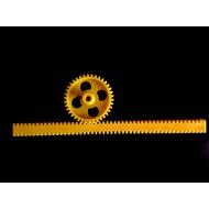 Rack & Pinion Mechanism  - Set Type 1 - Yellow - Plastic