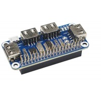 4 Port USB HUB HAT for Raspberry Pi