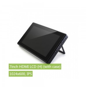 7inch HDMI LCD (H) (with case) for Raspberry Pi, 1024x600, IPS
