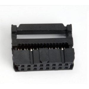 Flat Ribbon Cable Connector - Press Mount - 16 Pin Female - 2.54mm - FRC/ IDC connector