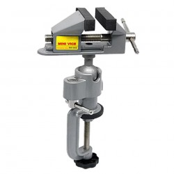 Mini Bench Vise - 360  Rotating Universal Vise - 50mm Jaw Opening - 78mm Jaw Width