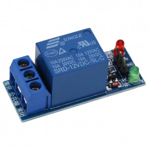 12V Single Channel Relay Module - Low Level Trigger