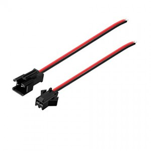 JST SM Connector 2P 2.54mm Pitch 10 CM Wire Length Pair of M+F