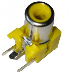 RCA-103P - Single Channel AV RCA Female Connector - PCB Mount - 3 Pin - YELLOW Color