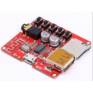 3.7 5V Bluetooth Audio Receiver Board - Optional USB and TF card Playback - Lossless Decoder