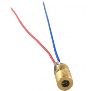5mW -  6mm Laser Diode 5V - Copper Head - Adjustable Dot - 650nm RED
