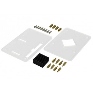 Acrylic Case (incl. CPU Heat Sink) for ROCK PI 4