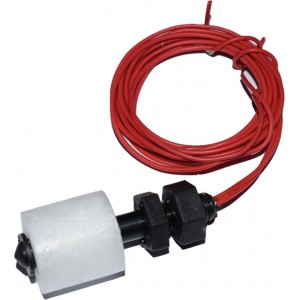 Float Switch for Water Tank - Vertical Mount - Normally Open (NO) - 100cm Wire