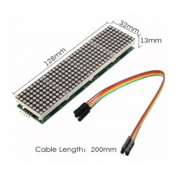 MAX7219 Dot Matrix Module 4-in-1 Display - 32 x 8 RED 3mm LEDs