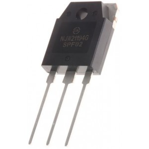 NJW21194G 16A Complementary NPN Power Transistor (BJT) for Audio Amps - 250 VOLTS - 200 WATTS - On Semiconductor