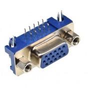 15Pin D-SUB VGA Connector - Female PCB Mount - Right Angle - DB15