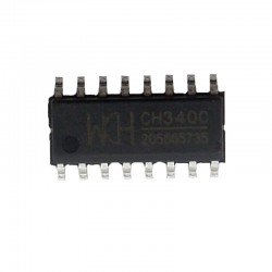 CH340C - USB to Serial Chip - SOP-16 150mil - No External Crystal Required - Replace CH340G
