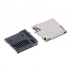 Micro SD Card Connector - Push-Push Type - 9Pin - Surface Mount