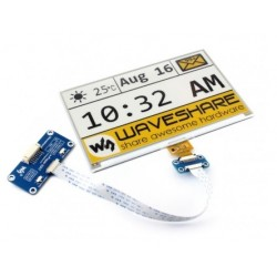 640x384 7.5inch E-Ink display HAT for Raspberry Pi, yellow / black / white three-color