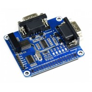 2 Channel RS232 Expansion HAT for Raspberry Pi - Isolated Signal Design - SC16IS752+SP3232