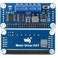 TB6612FNG + PCA9685 Motor Driver Hat for Raspberry Pi, I2C Interface