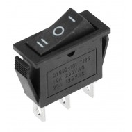 QY603-101 T125 3-Way Rocker Switch (ON-OFF-ON) Panel Mount