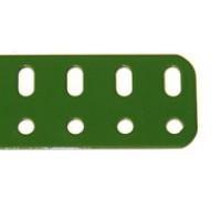 "Flat Metal Girder - 17 Holes - 1"" x 8.5"" - Green/ Grey"