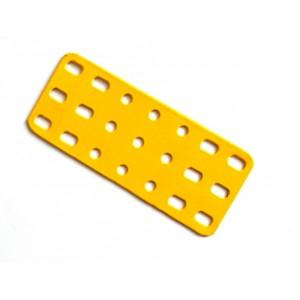 Flat Rectangular Metal Plate - Rigid - 3 x 7 Holes -  #923D