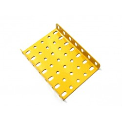Flanged Metal Plate - 7 x 7 Holes - Yellow - #924B