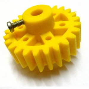 Plastic Spur Gear - Yellow - 6mm Circular Shaft - 25T