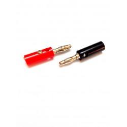 4mm Banana Plug - RED-BLACK Pair - Banana Pin