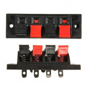 4 Way Spring Loaded Terminal Connector - Push Type Wire Terminal