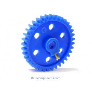 Plastic Spur/Pinion Gear - Blue - 6mm Circular Shaft - GB-2