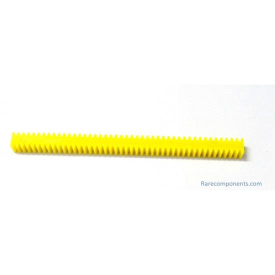 Linear Rack for Rack and Pinion Mechanism - Small Pitch - Yellow Color