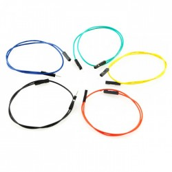 1 Pin - Male to Female Jumper Wire - 12 Inch/30.5cm- Pack of 100 PCS
