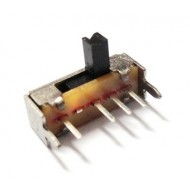 Slide Switch - Right Angle - Center Off - 4 Legs - PCB Mount