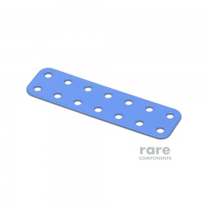 Flat Rectangular Metal Plate - 7x2 Holes