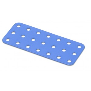 Flat Rectangular Metal Plate - 3 x 7 Holes