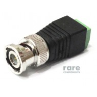 BNC Male Connector to 2 Pin Terminal Block Adapter
