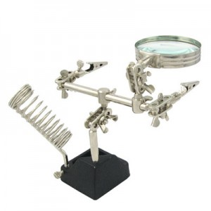 Helping Hand Tool - Third Hand Tool - w/ Magnifier - Soldering Iron Stand
