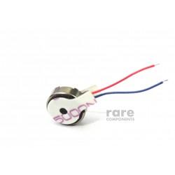 Vibration Motor - Flat - Button Sized - 10x4 mm - Adhesive Surface