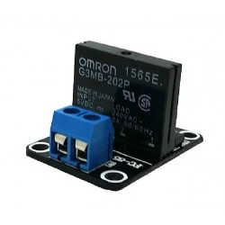 Solid state relay module - OMRON G3MB-202P - 5V - Low Level Triggered