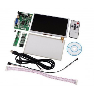 "800 x 480 LCD Display System - AT070TN90-  7"" LCD - HDMI / VGA Interface - Touch Screen - IR remote control - Keyboard - USB Cable"