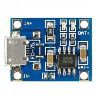 TP4056 - Li-ion Battery charger Module - 1A - Micro USB connector