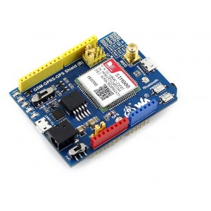 SIM808 - GSM / GPRS/ GPS / Bluetooth All in one Arduino Shield