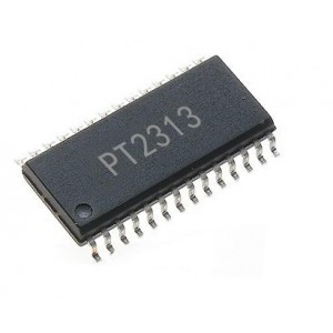 PT2313 - 4 Channel - Digitally Controlled Audio Processor IC - 28 Pin SOIC