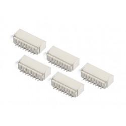 JST-SH : 10 Pin Socket - 1mm Pitch - Surface Mount - Lot of 5 PCS