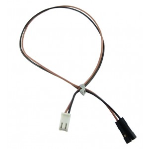 Relimate Connector Female 2 Pin to 2 Single Pin Female - 30 CM - 2.54mm Pitch