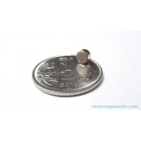Neodymium Magnet 5mm Dia x 3mm Thick, N35 Grade, 0.48 Kg Pull