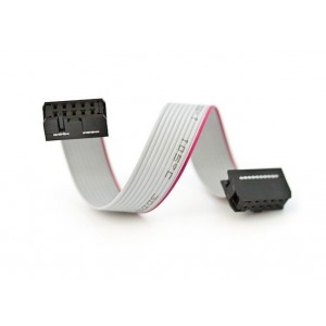 """10 Pin Flat Ribbon Cable - with Female Connectors at both ends - 12"""""""