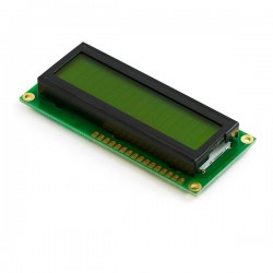 16x2 Alphanumeric LCD - Green Background